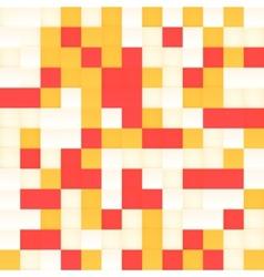 White and orange mosaic seamless pattern vector image