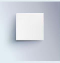 white box with shadow for logo text or design 3d vector image