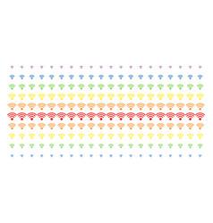 wi-fi source shape halftone spectrum array vector image
