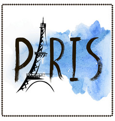 Word paris hand drawn vector
