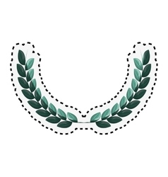wreath crown isolated icon vector image