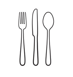 fork spoon knife icon sign symbol vector image