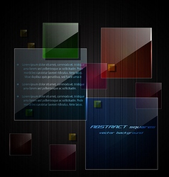 glass square background vector image vector image