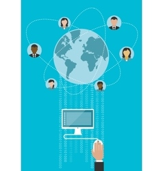 Global communication and www concept vector image vector image