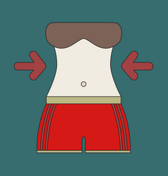 Icon in flat design woman body diet vector