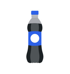 refreshing drink in plastic bottle vector image
