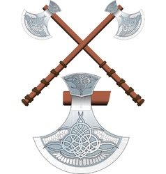 Two crossed Celtic ax vector image vector image