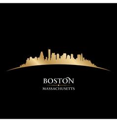 Boston Massachusetts city skyline silhouette vector image vector image