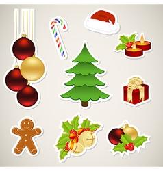 christmas set vector image vector image