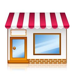 market shop vector image vector image