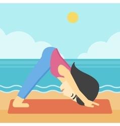 Woman practicing yoga vector image