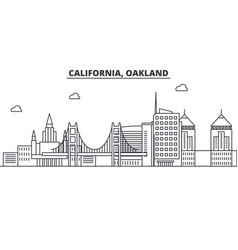 california oakland architecture line skyline vector image