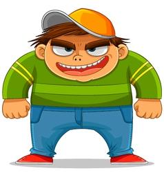 cartoon bully vector image vector image