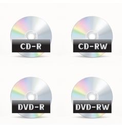 CD-DVD icon vector image vector image