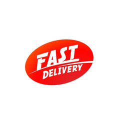 delivery and shipping logo fast delivery vector image vector image