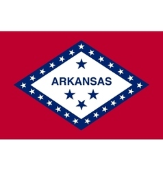Flag of Arkansas in correct size and color vector image vector image