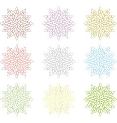 Flower Coleection vector image vector image