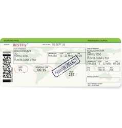 Pattern of a boarding pass or air ticket vector