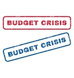 Budget crisis rubber stamps vector