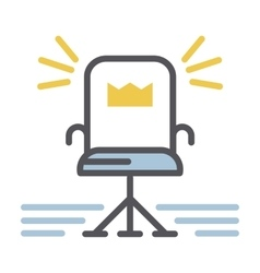 Chair icon isolated vector image