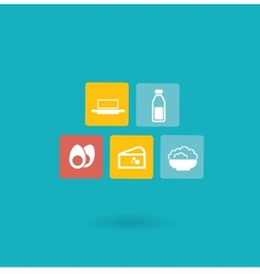 dairy icon vector image
