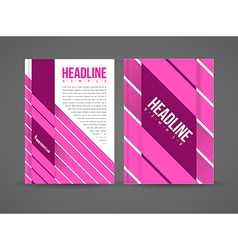Design flyer template vector image