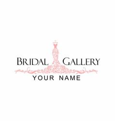 dress boutique bridal logo vector image vector image