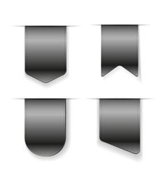 Grey Ribbon set vector image vector image