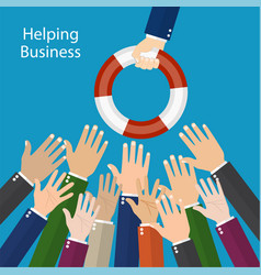 helping business to survive vector image vector image