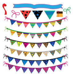 party flag set vector image vector image