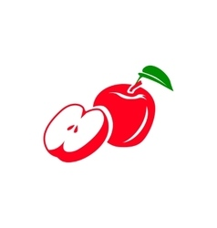 Red apple icon simple style vector image vector image