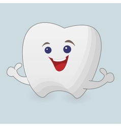 Smiling tooth vector image vector image