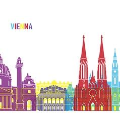 Vienna skyline pop vector image vector image