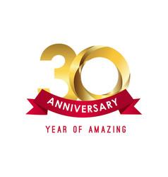 30 year anniversary year amazing template vector