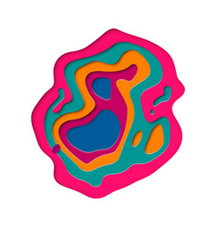 3d papercut color multi layers paper cut vector image