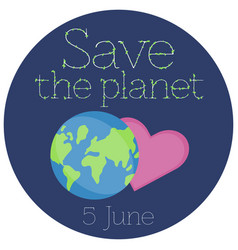 a sticker for world environment day vector image