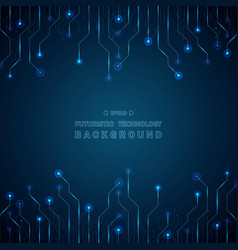 abstract of blue futuristic technology line vector image