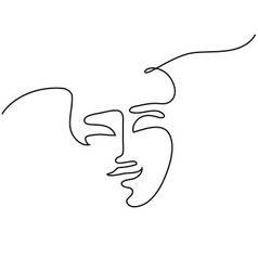abstract portrait of a woman vector image