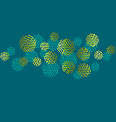 abstract round dots green header pattern vector image