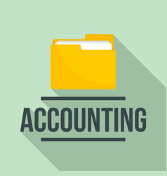Accounting folder logo flat style vector