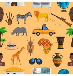 Africa seamless pattern vector