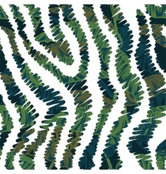 Animal seamless pattern with tropical leaves vector