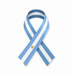 Argentinian flag stripe ribbon on white background vector