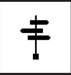 arrow signpost design symbol road signs vector image