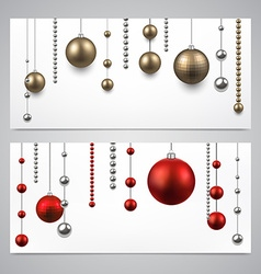 Background with christmas baubles vector