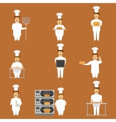 Baker Set Of Characters vector image