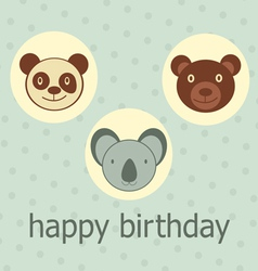 Bears coala Happy birthday vector image