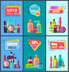 best offer for decorative and medical cosmetics vector image