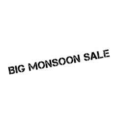 Big Monsoon Sale rubber stamp vector