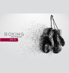 boxing gloves from particles vector image